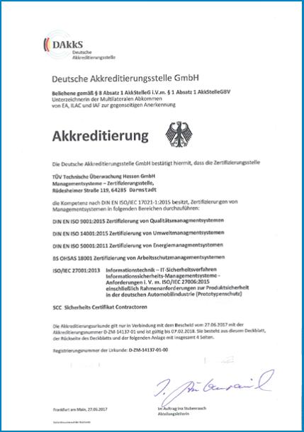 Zertifizierungen und Akkreditierung von TÜV Hessen | TÜV Hessen